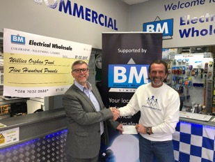 BM Electrical Wholesale support the work of Willies Orphan Fund